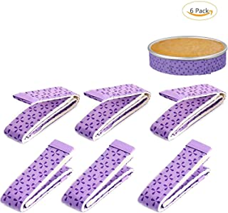 6-Piece Bake Even Strip, Woopower Cake Pan Strips,Super Absorbent Thick Cotton,Cake Strips for Baking,Cake Pan Strips