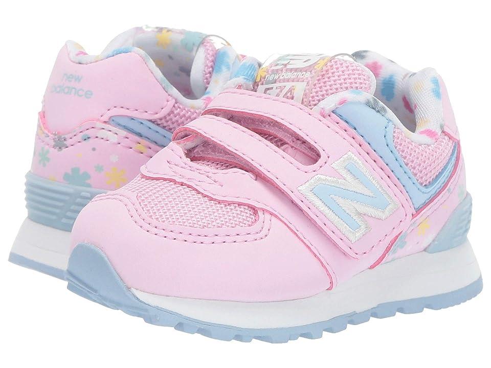 New Balance Kids 574 Spring Flowers (Infant/Toddler) (Crystal Rose/Summer Sky) Girls Shoes