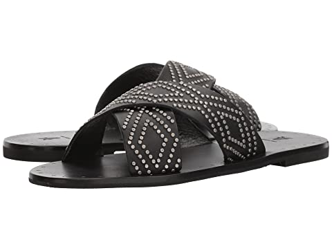 Women's Ally Deco Stud Criss Cross Slide Sandal