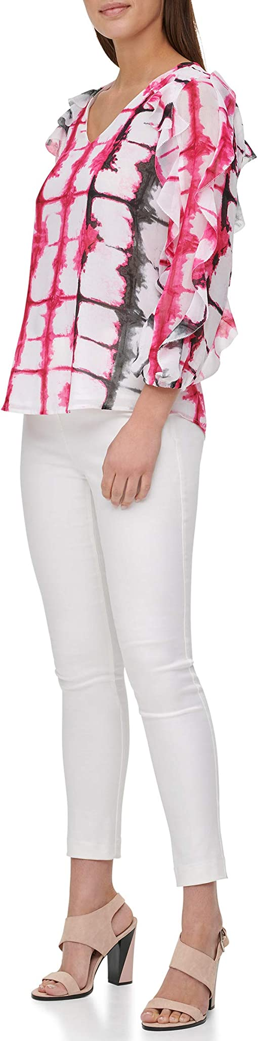 White/Hibiscus