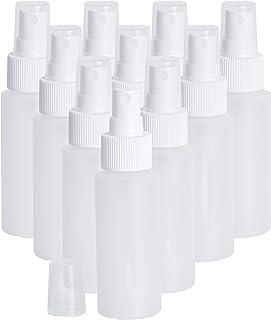 Lingito 2 oz 10-Pack   Clear Small Spray Bottle   Empty Plastic Bottles with Fine Mist Sprayer
