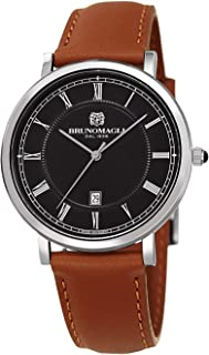 Bruno Magli Men's Milano 1201 Swiss Quartz with Italian Leather Strap Watch