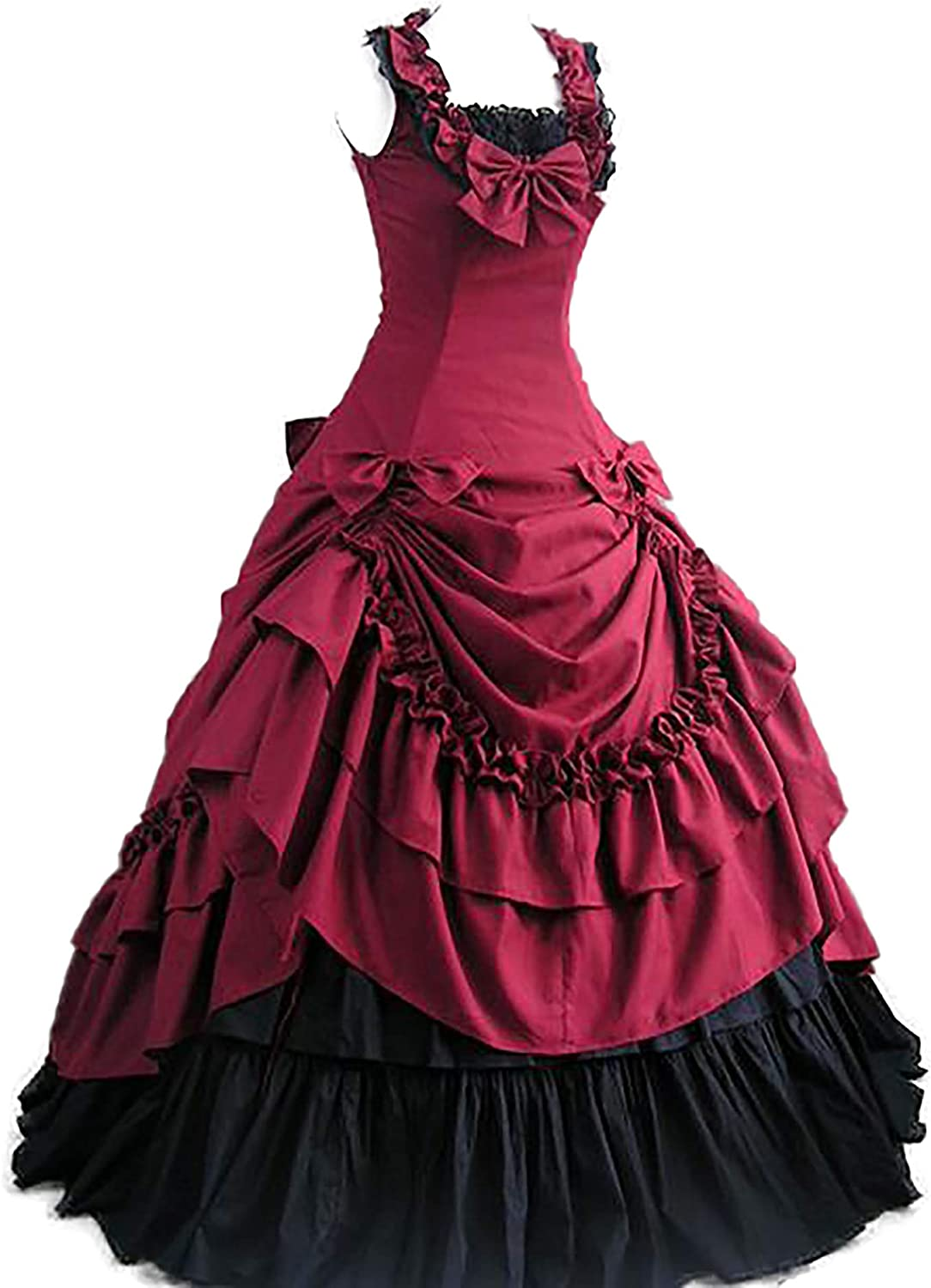 Women Free shipping on posting reviews Gothic Red Lolita Medieval Victorian Sale Dress Cos Renaissance