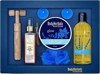 BodyHerbals Lavender Collections Gift Set For Birthday, Anniversay & Wedding (Lavender Shower Gel 200ml, Lavender Body Pol...