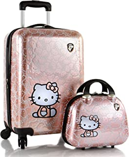 Hello Kitty Luggage and Beauty Case Set 21 Inch Hard Sided Expandable Spinner Luggage for Kids - 2 Pcs Set