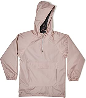 Zak Brand Kids Dusty Rose Water Resistant Military Inspired Streetwear Pull Over Zip Up Anorak Windbreaker