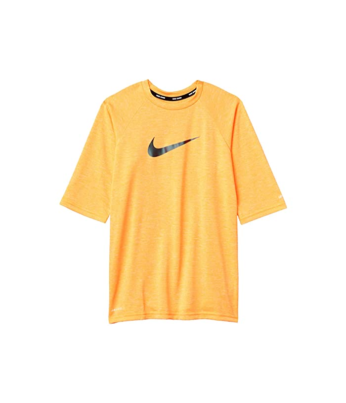 Nike Kids  1/2 Sleeve Hydroguard (Little Kids/Big Kids) (Total Orange) Boys Swimwear