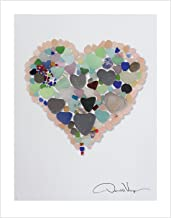 Love - Pink Sea Glass Heart Poster, 11x14, Great Birthday and Mothers Day Gift, Unique Fine Art Print from The Heart Collection. Best Christmas & Valentines Day Gift idea for Women, Men, Teens, Kids.