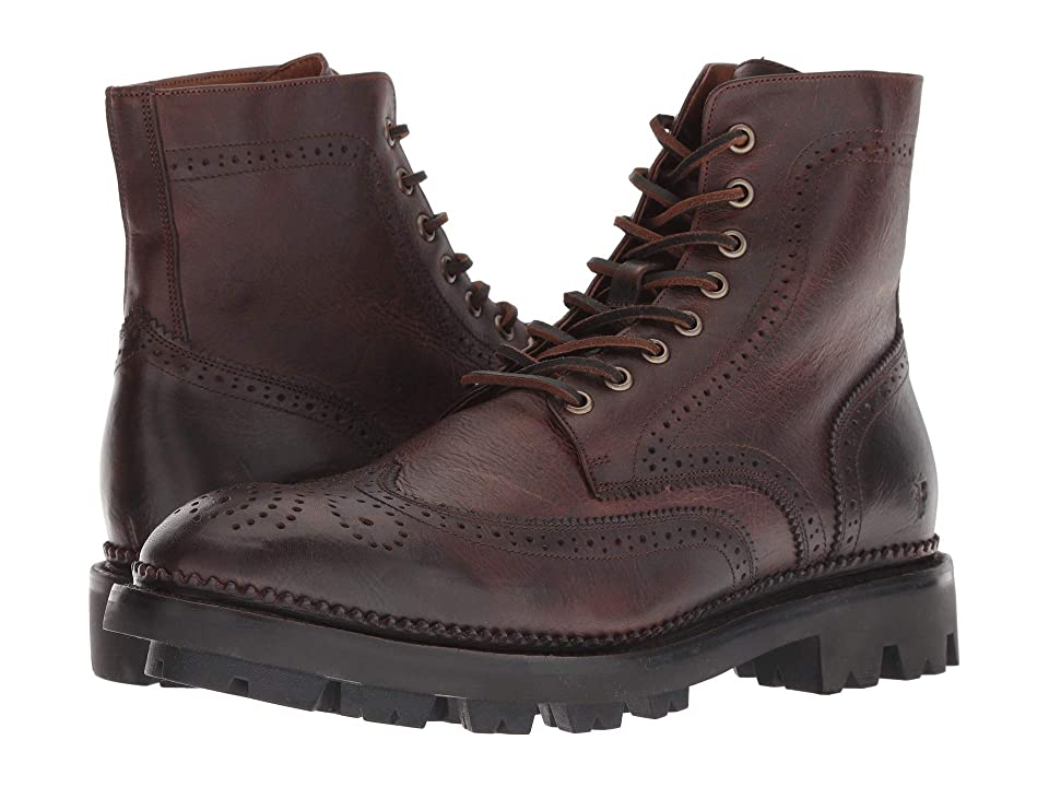 Frye Tanker Lace-Up (Cognac Pull-Up Leather) Men