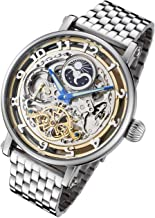Rougois Automatic Skeleton Moonphase Watch Dual Time RMAS47