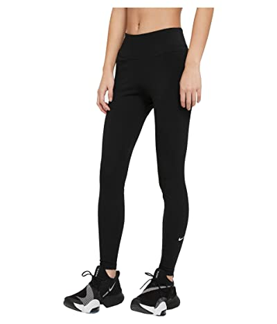Nike One Mid-Rise Tights 2.0 (Black/White) Women