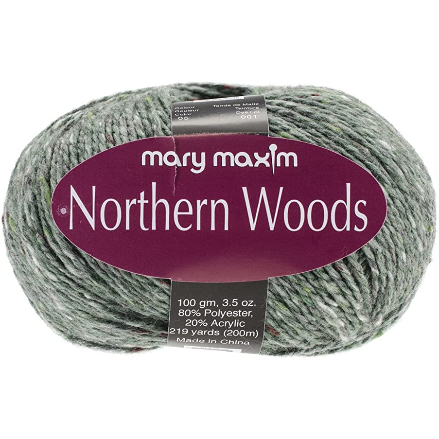 Mary Maxim Northern Woods Yarn, White Pine