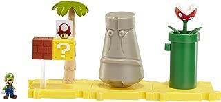 Nintendo Mario Bros Universe Micro Land Wave 1: Layer Cake Desert with Luigi Playset, 3-Pack