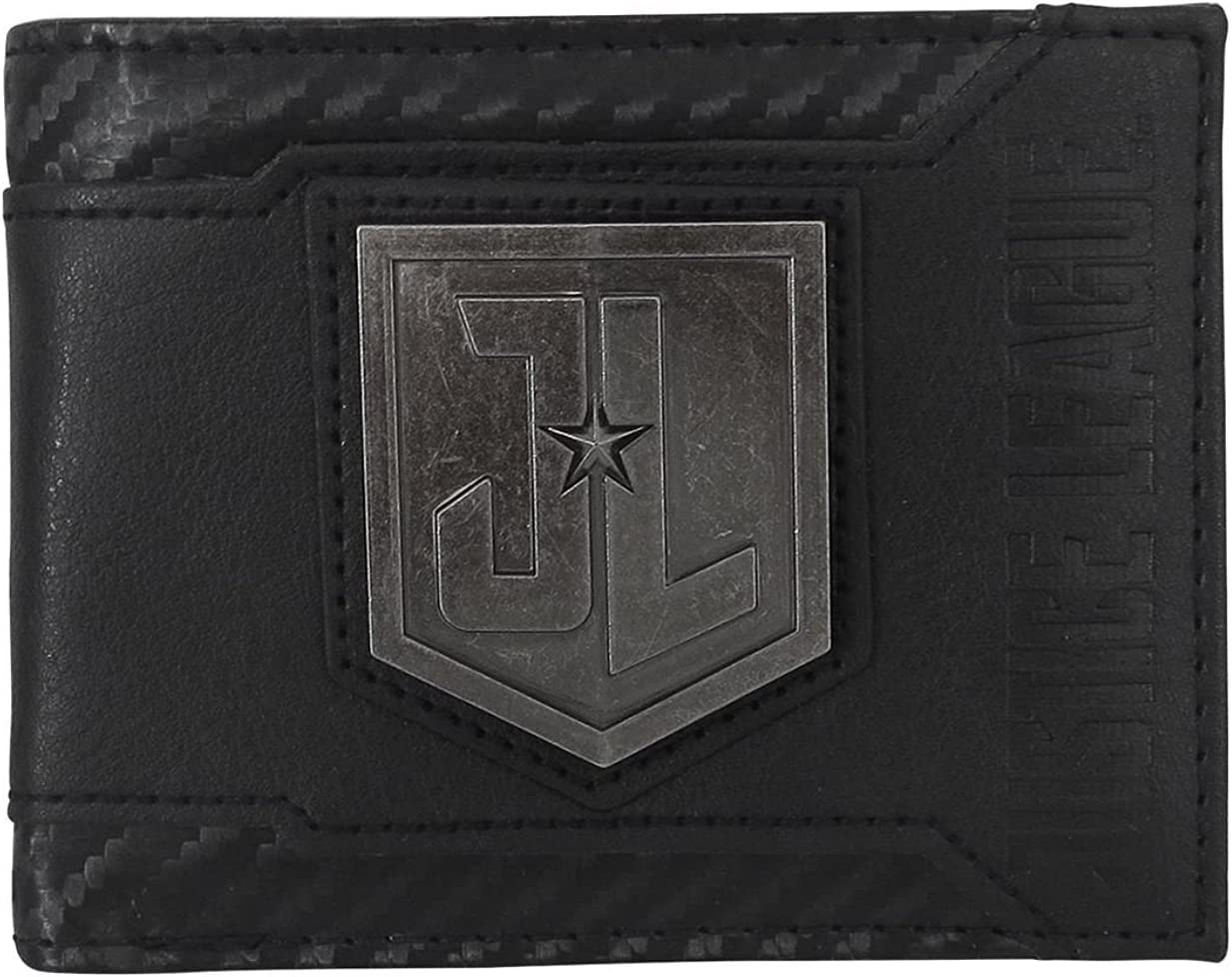 Justice Classic League Movie Metal Brand new Bi-Fold Wallet Men's Logo