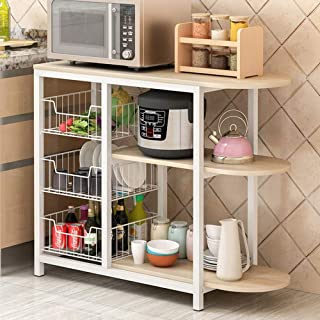 Four micro-ondes rack d'armoires de cuisine étagèr Utilitaire Rack De Cuisine Durable Baker Étagère De Rangement À Micro-o...