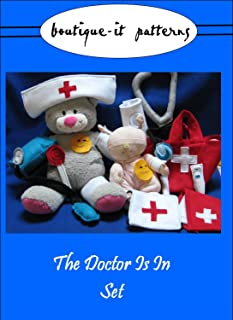 Felt Doctor Kit Tutorial and Printable PDF Sewing Pattern (Boutique-it Patterns)