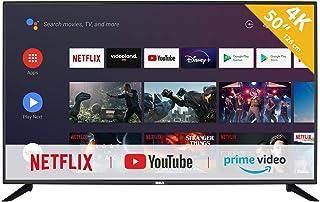 RCA RS50U2 Android TV (50 inch 4K Smart TV met Google Assistant), ingebouwde Chromecast, HDMI, USB, WiFi, Bluetooth, Tripl...