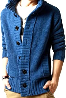 neveraway Men Button Down Fall Winter Breathable Outdoor Sweater Tops