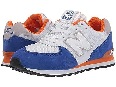 New Balance Kids 574 Summer Sport (Big Kid) (Team Royal/Varsity Orange) Boys Shoes