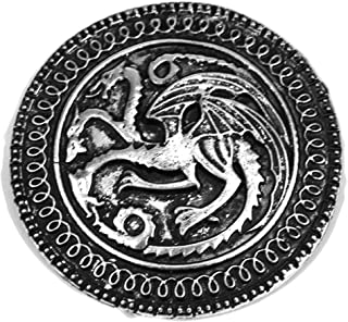 Fashion Jewelry ~ Song of Ice and Fire Game of Thrones Targaryen Dragon Badge Brooch Pin (D2-2-134)
