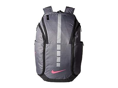 Nike Hoops Elite Pro Backpack (Dark Grey/Black/Vivid Pink) Backpack Bags