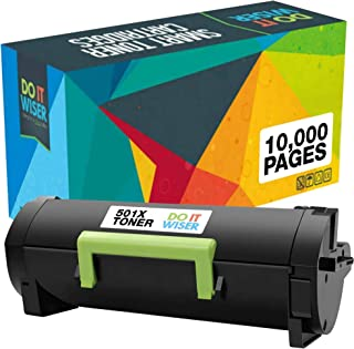 Best Do it Wiser Compatible Toner Cartridge Replacement for 50F1X00 Lexmark 501X   MS410n MS410dn MS415dn MS510dn MS510 MS610dn MS610de MS610dtN (10,000 Pages) Extra High Yield Review