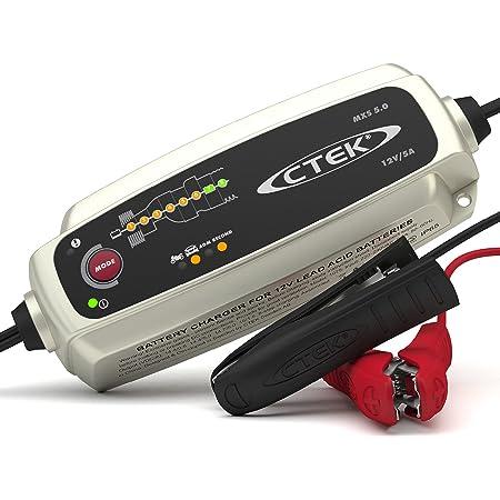 CTEK MXS 5.0, Chargeur De Batterie 12V 5A, Compensation De Température Intégrée, Chargeur De Batterie Voiture Et Moto, Chargeur De Batterie Intelligent Avec Mode De Reconditionnement Et Option AGM