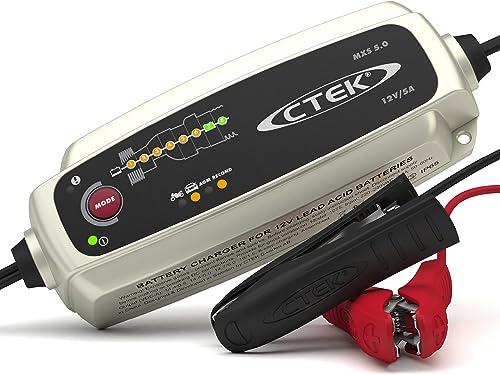 CTEK MXS 5.0, Cargador Batería 12V 5A, Con Compensación De Temperatura Incorporada, Cargador De Batería De Coche Y Mo...