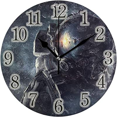 HSSS - Reloj de Pared de Madera, diseño Vintage con Sellos y Texto ...