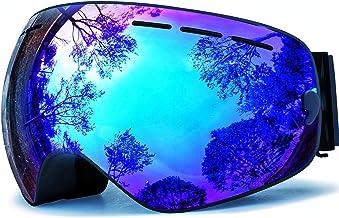 HONGDAK Ski Goggles Snowboard Snowmobile Men Women Anti Fog OTG Over Glasses Snow Sports Sunglasses Snowboarding Jet Skiing