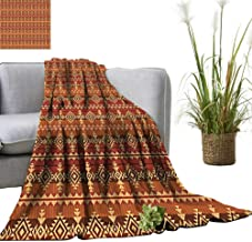 YOYI Baby Blanket Navajo Style Ethnic Cultural Ancient Pattern Indoor/Outdoor, Comfortable for All Seasons 35