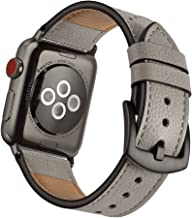 Mifa Compatible w/ Apple Watch Leather Band 6 SE 5 4 44mm 42mm iwatch Series 1 2 3 Nike Sports Replacement Strap Bands Dre...