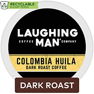 Laughing Man Colombia Huila, Single-Serve Coffee K-Cup Pods, Dark Roast, 44 Count