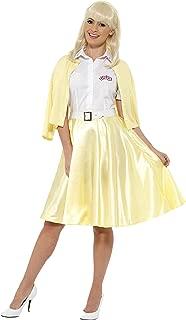 Good Sandy Grease Costume With Yellow Skirt Mock Cardigan Belt & Headband