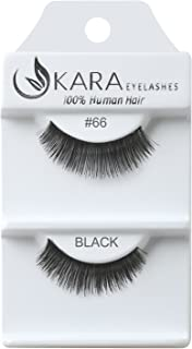 Kara Beauty Human Hair Eyelashes - 66 (Pack of 12)