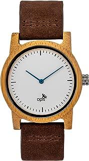Opis UR: Relojes clásicos de Madera con Modelos para Hombre, Mujer y Unisex/Relojes con Pulsera de Madera para Mujer, Hombre y Unisex (sándalo Negro, sándalo Rojo, cebrano, Arce Blanco, bambú)