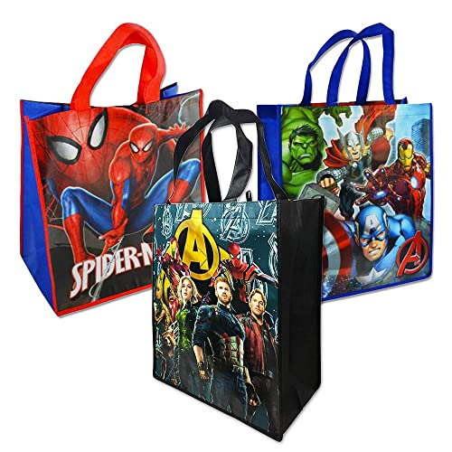 5d4158406be Marvel Avengers Tote Bags Value Pack -- 3 Reusable Tote Party Bags  (Featuring Captain
