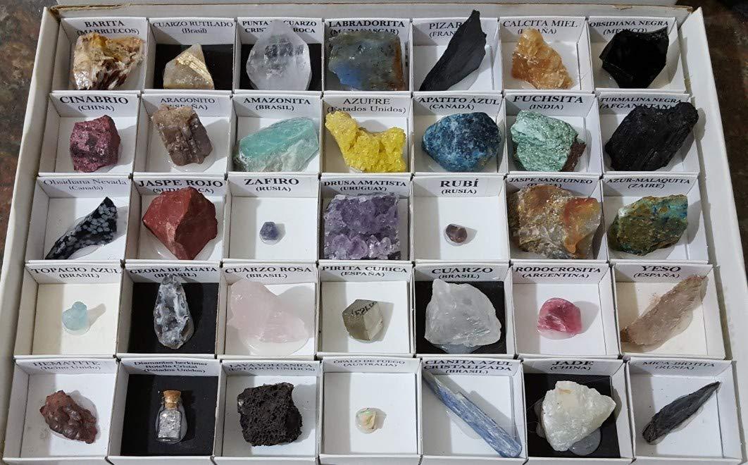Coleccion de minerales del mundo, 40 unidades: Amazon.es: Juguetes y juegos