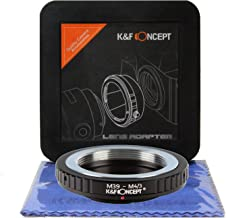 K&F Concept L39 M39 LTM Leica Thread Mount to Micro Four Thirds Adapter with Hard Plastic Travel Case and Cleaning Cloth, Micro 4/3 Lens Adapter, M4/3 Lens Adapter, M43 Lens Adapter (M39-M4/3)