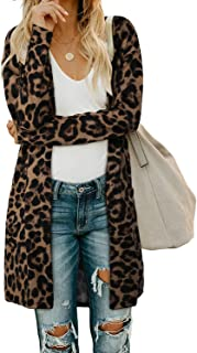 Women's Open Front Cardigan with Pockets Long Sleeve...