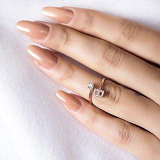 Anello iniziale - Gioielli con lettera d'anello - Anello da donna - Gioielli veri - Anello con lettere - Zirconia cubica