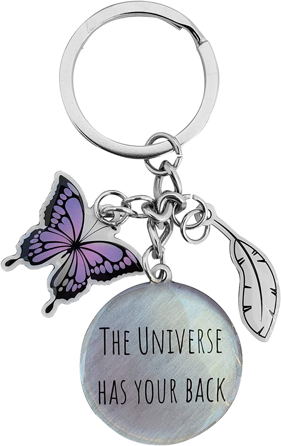 Inspirational Butterfly Keychain - With Law Of Attraction Quotes, Gifts For Women By Positively Woo Woo