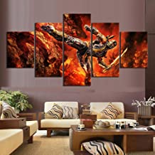 ZDLYY 5 canvas paintings,Wall art,home decoration 5 canvas paintings Mortal Kombat Game poster Mural Home Decor,10x15 10x20 10x25(cm)