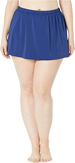 Plus Size Solids Separate Skirted Pant Bottoms