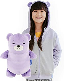 Cubcoats Bori The Bear - 2-in-1 Transforming Hoodie and Soft Plushie - Lilac Purple