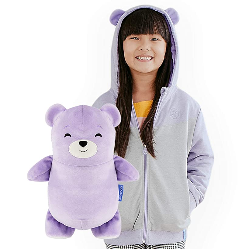 Cubcoats Bori The Bear - 2-in-1 Transforming Hoodie & Soft Plushie - Lilac Purple