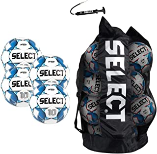 Select Numero 10 Soccer Ball - Team Pack of 4(Size 5, White/Blue)