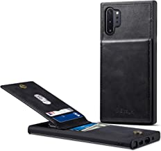 Samsung Galaxy Note 10 Plus Card Holder Case, Note 10 Plus Wallet Case Spaysi Slim, Galaxy Note 10 Plus Folio Leather case, Flip Cover, Gift Box, for Note10 Plus (Black)