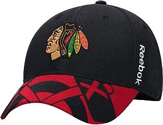 759647ee8e6 Reebok Chicago Blackhawks 2015 Draft Flex Fit Hat NHL Cap-9620-9622