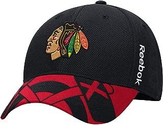 Reebok Chicago Blackhawks 2015 Draft Flex Fit Hat NHL Cap-9620-9622